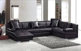 U Shaped Sectional Sofa Modern Black Leather U Shape Sectional Sofa With Chaise Modern U