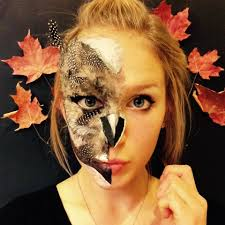 Owl Halloween Makeup by Masha Tselooussova