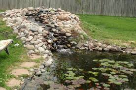 Backyard Pond Landscaping Ideas Garden Pond Landscape Ideas There Is A Garden With A Very Large