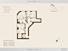 floor plan u2013 penthouse 127 bezier ec2 u2013 london england uk the