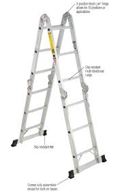 home depot black friday folding cart werner 16 ft aluminum folding multi position ladder with 300 lb