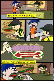 Subway Sandwich Meme - sandwich artist by funymony on deviantart