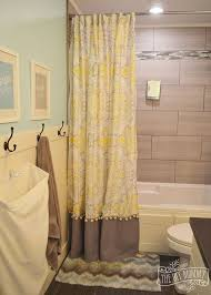 Kids Bathroom Shower Curtain A Happy Yellow U0026 Aqua Kids U0027 Bathroom Hometalk