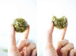 matcha pistachio bliss balls gluten free