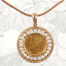 coin jewelry necklace images Russian gold coin jewelry gold ruble necklace with pearls jpg