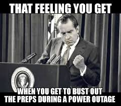 Power Meme - meme nixon power outage woodland gear