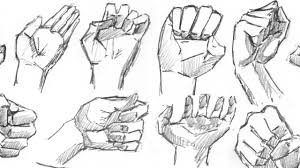 sketching hands quickly how to draw part 1 2 youtube