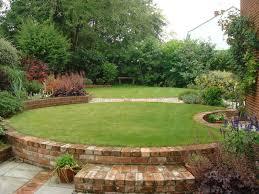 L Shaped Garden Design Ideas Great Oval Shape Of A Garden Landscaping Gardening Ideas