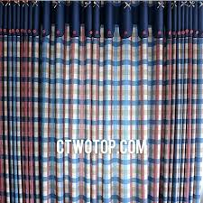 Blue Plaid Curtains And Navy Curtains Rabbitgirl Me
