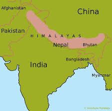 China On A Map Himalaya Mountains Map My Blog