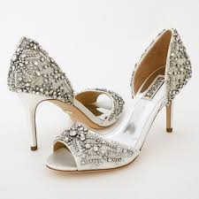 badgley mischka wedding shoes shaina white beaded bridal shoes