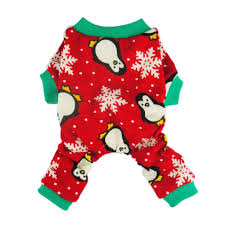 pet christmas fitwarm penguin pet clothes for dog pajamas