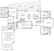 open floor plans for single story modern shed homes 3312 sq ft one