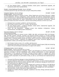 Business System Analyst Resume Sample by Application Analyst Cover Letter