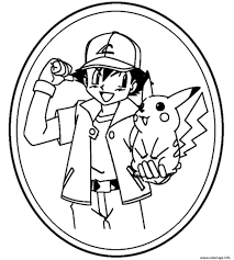coloring pages ash and pikachu coloring pages mycoloring free