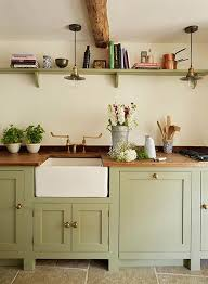 Images Of Cottage Kitchens - best 25 green kitchen cabinets ideas on pinterest green kitchen