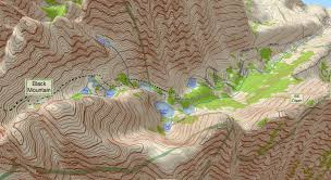Topographical Map Of Virginia by Virginia Lakes Resort