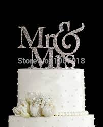 mr and mrs wedding cake toppers free shipping glitter silver mr mrs wedding cake topper gold