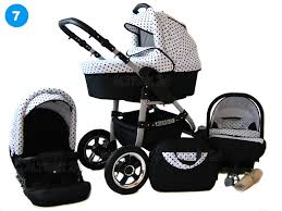 babylux siege auto baby pram stroller buggy pushchair avaro 3in1 car seat swivel wheels