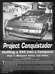 chrysler conquest engine 318 swap engine swappers starquestclub com