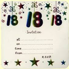 simple 18th birthday party invitation card sample with star