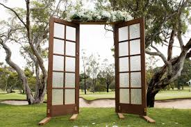 wedding arches adelaide vintage door archway adelaide wedding ceremonies