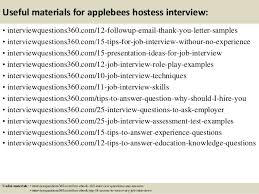 top 10 applebees hostess interview questions and answers