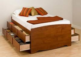 Bed Frame Drawers Size Bed Frame With Drawers Wooden Global