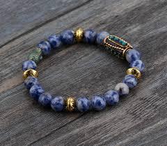elastic bead bracelet images Boho brazilian sodalite nepal charm stretch bracelets handmade jpg