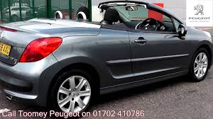 peugeot 208 cabriolet for sale 2008 peugeot 207 cc sport 1 6l thorium grey metallic lv58axu for