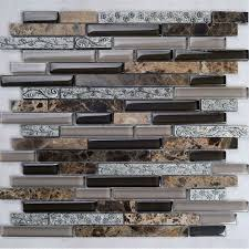 Stone Wall Tiles For Bedroom by Brown Stone With Crystal Mosaic Tile Sheet Backsplash Wall