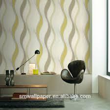 popularly used home interior decoration vinyl wallpaper plain pvc