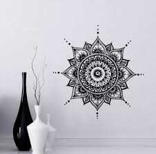 Wall Decals Mandala Ornament Indian by Aliexpress Com Buy Mandala Decals Mehndi Vinyl Sticker Bedroom