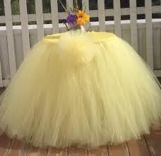 table sashes yellow tutu table skirt handmade tulle table sashes made to order