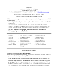 System Engineer Resume Sample by Senior Systems Engineer Resume Sample Resume For Your Job