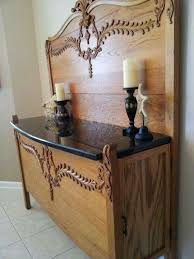 made from bed headboard and footboard clever interesting