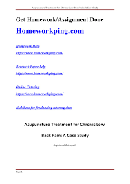 study of acupuncture for low 162633300 acupuncture treatment clbp study