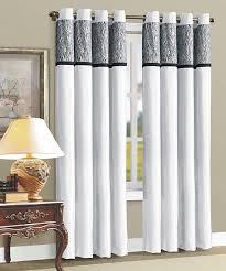 Zebra Print Curtain Panels Beatrice Home White Zebra Flocked Curtain Panel Set Of Two Zulily