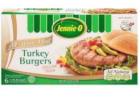 frozen white meat turkey burgers jennie product