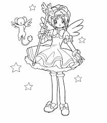 cardcaptor sakura coloring pages coloring ccs