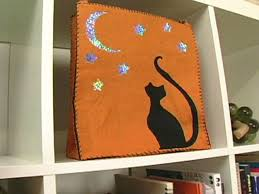 how to sew a felt trick or treat halloween bag hgtv