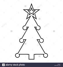 decorated christmas tree black and white stock photos u0026 images alamy
