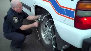 best light truck tire chains safety first 8 steps to installing winter tire chains youtube