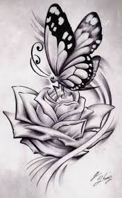 black rose and butterfly tattoo google search tattoo ideas