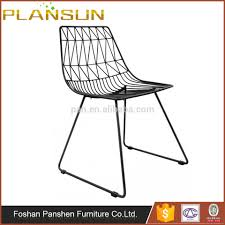 chair replica bend stackable black net wire lucy dining chairs