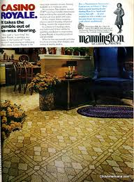 get with these groovy vinyl floors from the 70s kitchen