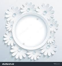 3d Invitation Card Beautiful Trendy Grey Round Frame White Stock Illustration