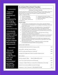 Assistant Teacher Resume Sample by Resume Preschool Teacher Resume Sample