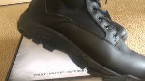 budget motorcycle boots la police gear black classic 8
