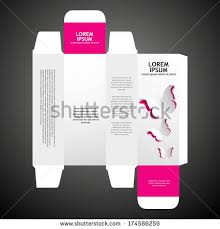 box design perfume box design stock vector 174586259